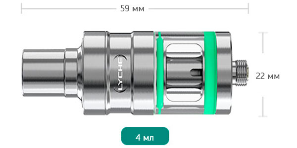Размеры Eleaf Lyche Atomizer With RBA