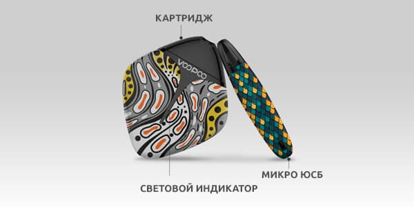 Конструкция VooPoo FINIC Fish Pod Kit