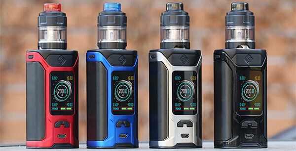 Дизайн Wismec SINUOUS RAVAGE 230 Kit